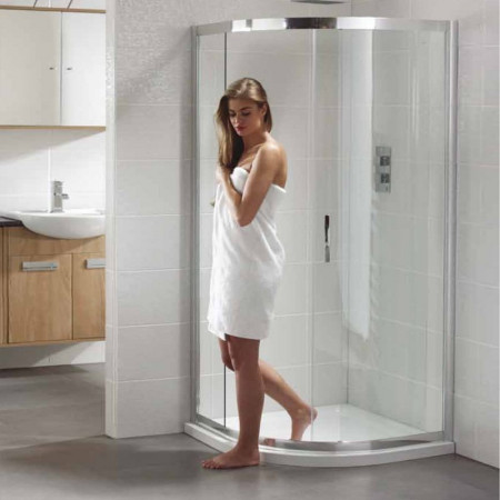 April Identiti2 Single Door 800mm Quadrant Shower Enclosure