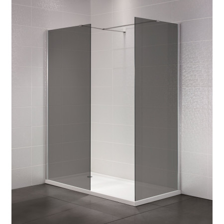 April Identiti 1200mm Smoked Glass Wetroom Panel