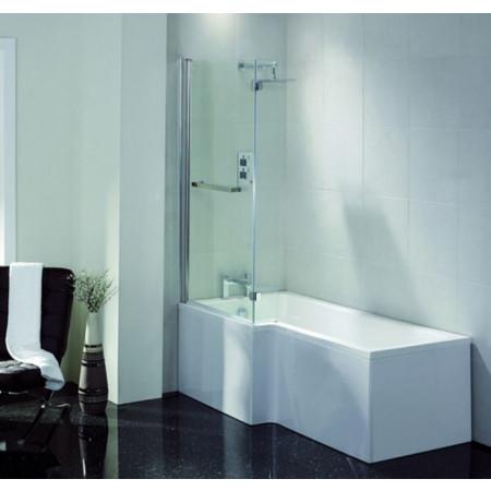 April L Shape Left Hand 1600mm Shower Bath