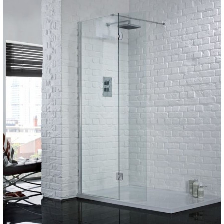 Aquadart Wetroom 900mm Panel with 300mm Hinged Return Panel
