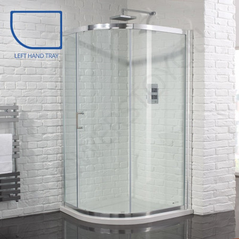 Aquadart Venturi 6 Single Door 1200 x 800mm Offset Quadrant Shower Enclosure