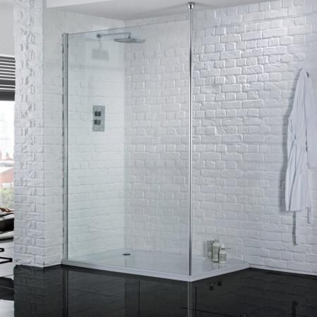 Aquadart Wetroom 8 1000mm Safety Glass Shower Panel