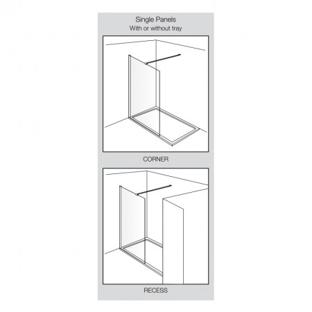Aquadart Wetroom 10 Shower Panel 800mm