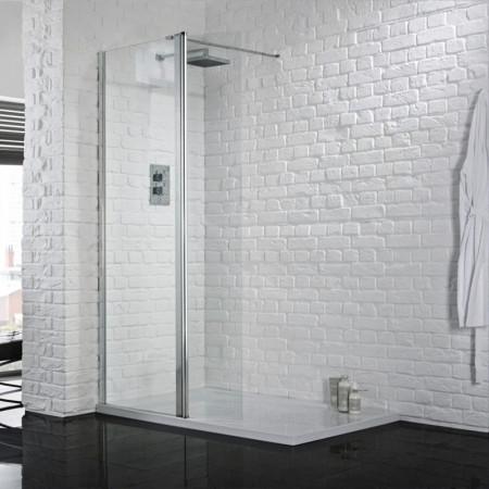 Aquadart Wetroom 8 700mm Safety Glass Shower Panel