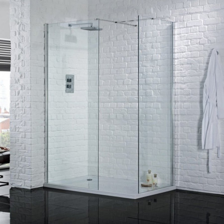 Aquadart Wetroom 8 800mm Safety Glass Shower Panel