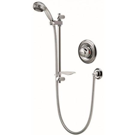 Aqualisa 609 Aquavalve Shower complete with a Turbo Spray Shower Head & chrome Slide Rail Kit