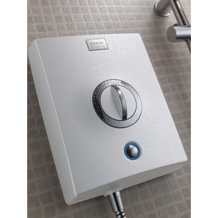 Aqualisa Quartz 8.5kw Electric Shower White & Chrome