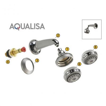 Aqualisa Shower head shell - Chrome - 164626 - 2