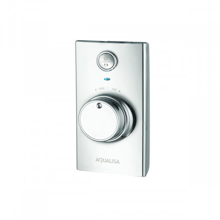 Aqualisa Visage Q Smart Shower Concealed with Adj Head and Bath Fill - Gravity Pumped Controller