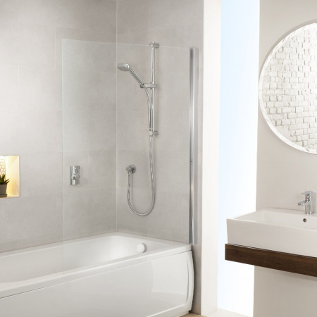 Aqualisa Visage Q Smart Shower Concealed with Adj Head and Bath Fill - Gravity Pumped Room Setting