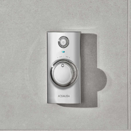 Aqualisa Visage Q Smart Shower Concealed with Fixed Head - Gravity Pumped Room Setting Controller
