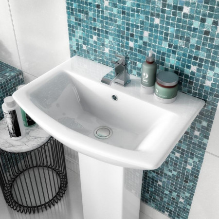 Asselby 4 Piece Bathroom Suite - Toilet & 600mm 1TH Basin with Pedestal