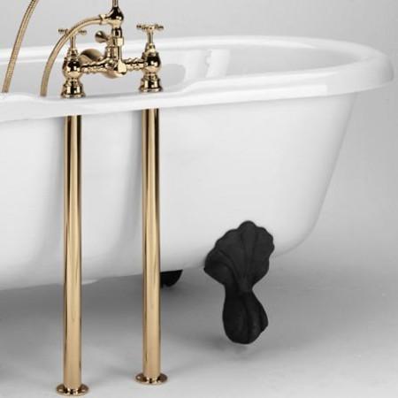 Bristan Bath Pipe Shroud Covers in Gold