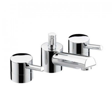 Bristan Prism 3 Hole Basin Mixer With Pop Up Waste