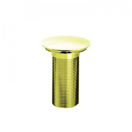 Bristan Round Clicker Basin Waste with Clicker RD Gold Plated Unslotted
