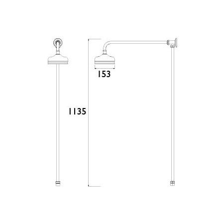 Bristan Traditional Rigid Riser Shower Kit Chrome