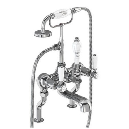Burlington Kensington Deck Mounted Bath Shower Mixer
