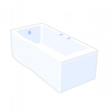 Carron Delta 1600 x 700-800mm Left Hand Shower Bath Drawing
