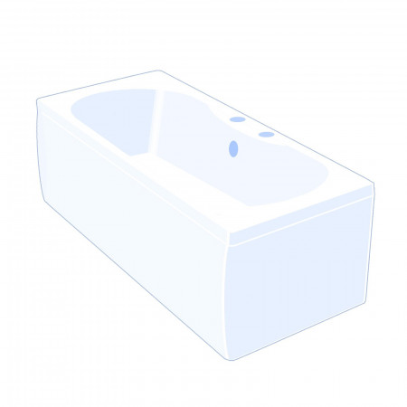 Carron Equation 1800 x 800mm Double Ended Bath