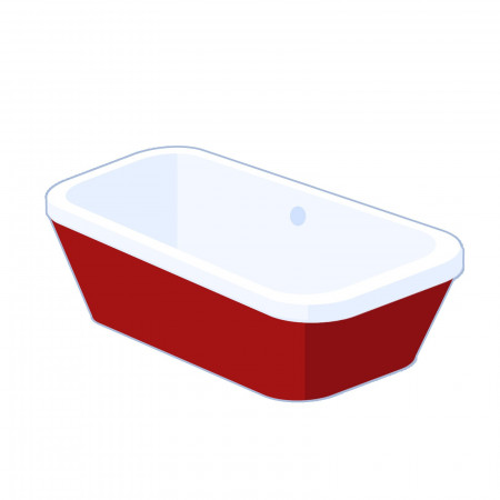 Carron Halcyon Square 1750mm freestanding bath - Red