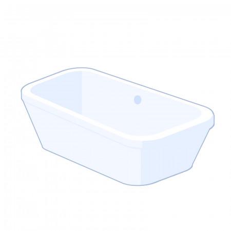 Carron Halcyon Square 1750mm freestanding bath - White