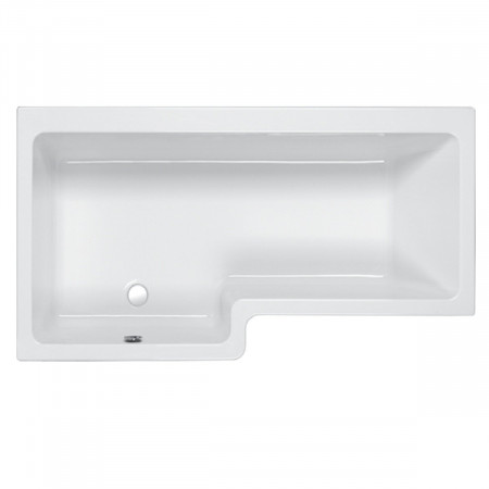 Carron Quantum 1600mm Square Right Hand Shower Bath (Left hand version shown)