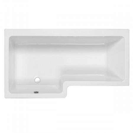 Carron Quantum 1700mm Square Right Hand Shower Bath (Left Hand Version Shown)