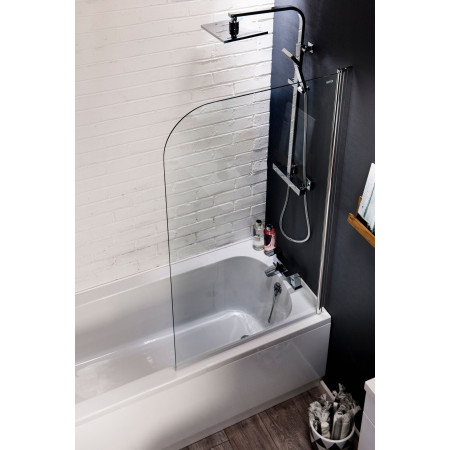 Cassellie Curved Top Bath Screen