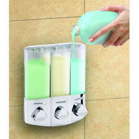 Croydex Euro Trio White Soap Dispenser | PA660722