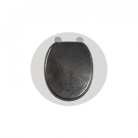 S2Y-Croydex Flexi-Fix Black Quartz Toilet Seat-1