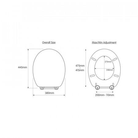 S2Y-Croydex Flexi-Fix White Quartz Toilet Seat-3