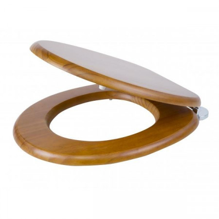 S2Y-Croydex Flexi-Fix Davos Antique Pine Toilet Seat-2