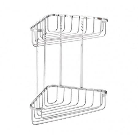 Croydex Large Stainless Steel Corner Shower Basket