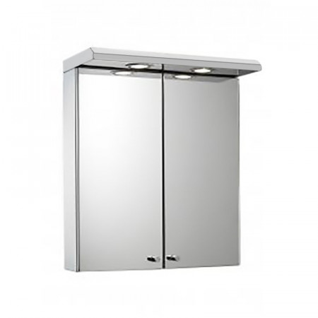 Croydex Shire Stainless Steel Double Door Illuminated Cabinet