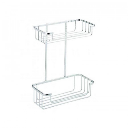Croydex Two Tier Wire Cosmetic Basket