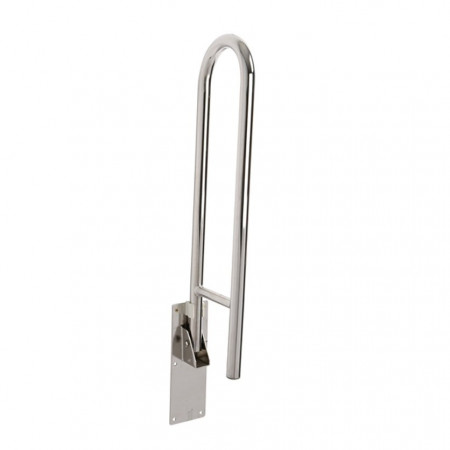 Croydex stainless fold away hand rail - Up Position