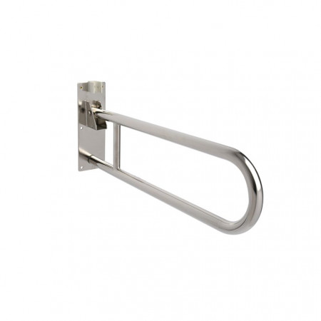 Croydex stainless fold away hand rail - Down Position