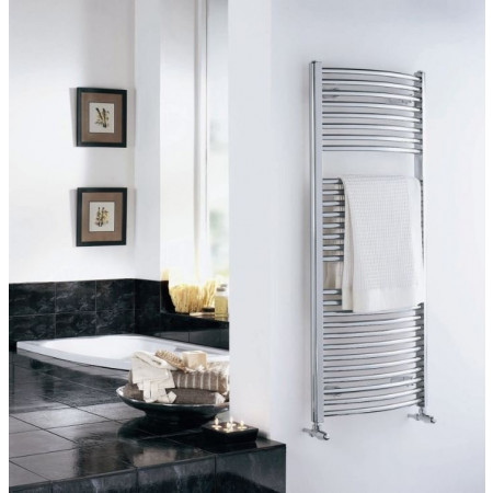 Curved Heated Towel Rail 1700 x 500