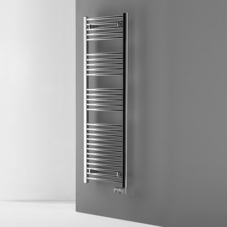 Electric Chrome Thermostatic Heated Towel Rail 840 x 500mm