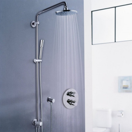 S2Y-Grohe Rainshower 210 Shower System With Diverter For Wall Mounting-2