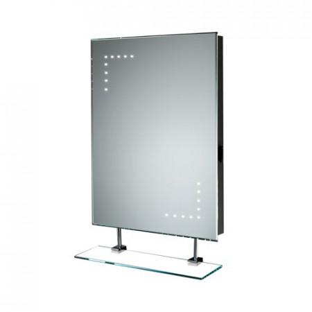 HIB Celeste Illuminated LED Bathroom Mirror with Shaver Socket 73105400 Showers to You