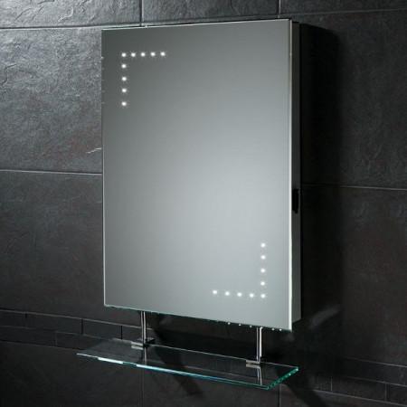 HIB Celeste Illuminated LED Bathroom Mirror with Shaver Socket