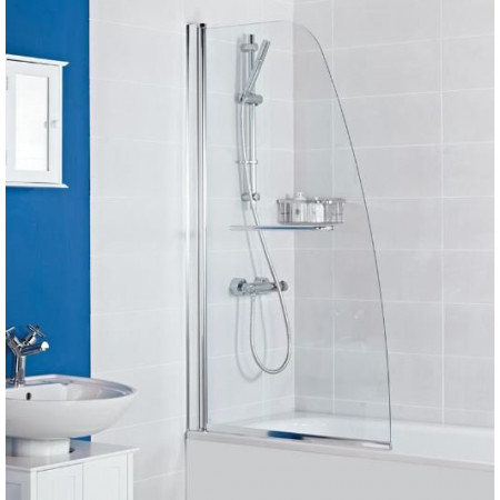 Haven Angled Bath Screen with Towel Rail