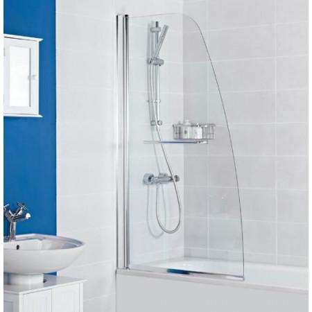 Haven Angled Bath Screen with Towel Rail