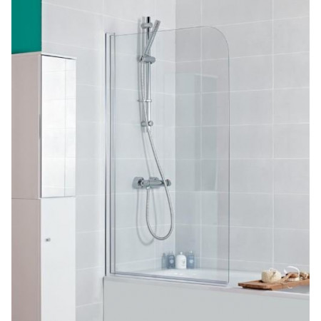 Haven Single Panel Curved Bath Screen