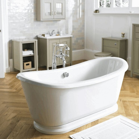 Hudson Reed Alice round double ended freestanding bath