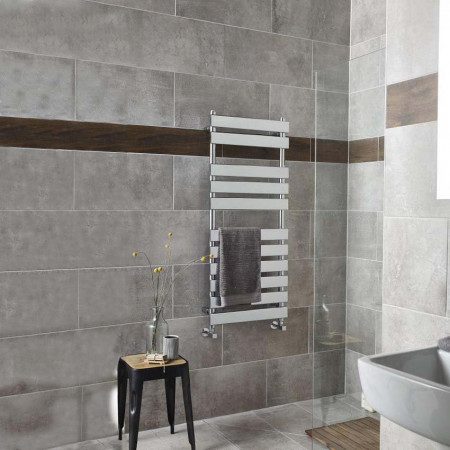 Hudson Reed Chrome Plated Piazza 11 Bar Heated Towel Rail 1200 x 500