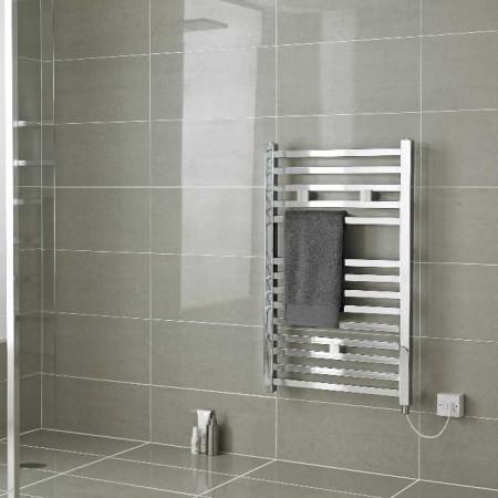 Hudson Reed Electric Heated Towel Rail H690xW500mm - Chrome