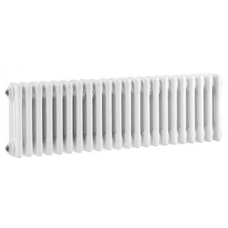 Hudson Reed Horizontal Wall Mounted Colosseum Radiator - H300 x W1011mm - High Gloss White