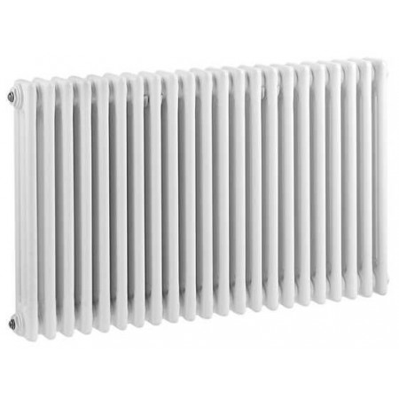 Hudson Reed Horizontal Wall Mounted Colosseum Radiator - H600 x W1011mm - High Gloss White